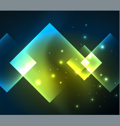 dark background design with squares and shiny vector image