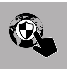 data protection smartphone globe safety vector image