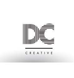 Dc d c black and white lines letter logo design vector