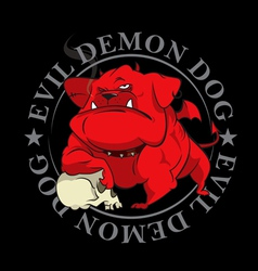 Devil dog mascot vector