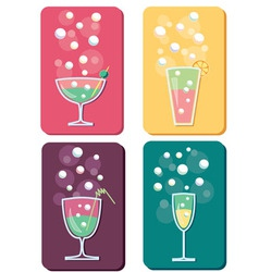 different cocktails vector image