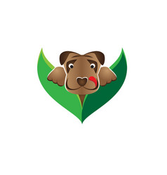 Dog pops out from bushes vector