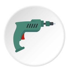 Drill icon circle vector