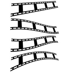 film strip photo-film tape set over white vector image