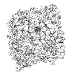 flowers zentangle doodle vector image