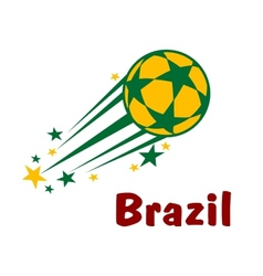 Flying brazil soccer or football ball vector image