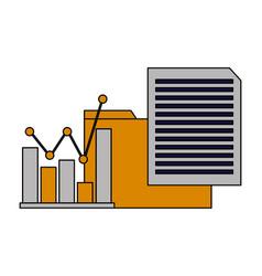 folder file data chart vector image