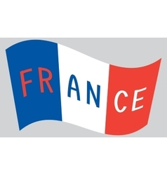 French flag waving with word France vector image