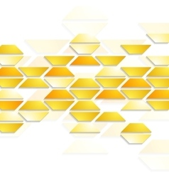 Geometric shapes on white background Tech design vector image