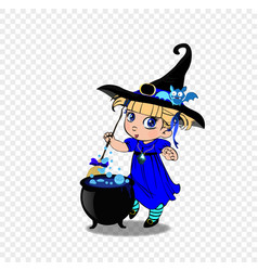 Halloween clip art character of anime blonde baby vector