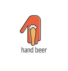 Hand beer concept design template vector