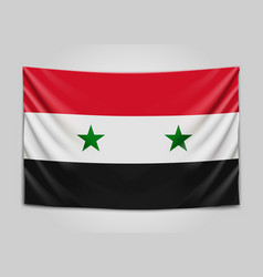 hanging flag of syria syrian arab republic vector image