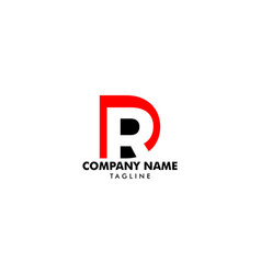 Initial letter dr logo template vector