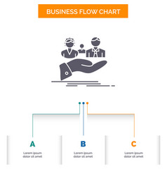 insurance health family life hand business flow vector image
