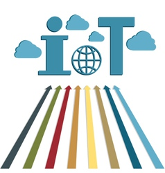 Iot technology web icon vector