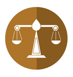 Justice scale law symbol shadow vector