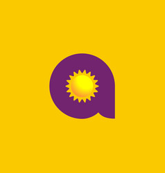 Letter a sun logo icon design template elements vector