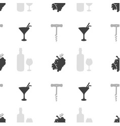 Liquor store seamless pattern vector