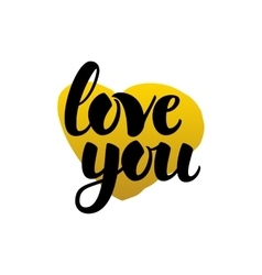 Love You Handwritten Lettering vector image