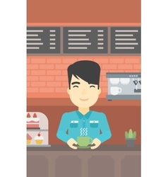 Man making coffee vector