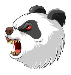 mascot head an roaring panda vector image