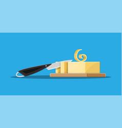 milk butter spread vector image