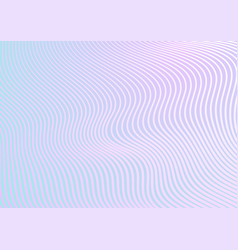 minimal pastel trendy refracted curved waves vector image