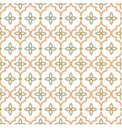 oriental tile seamless pattern arabic moroccan vector image