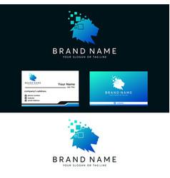 Premium amazing logo lion tech vector