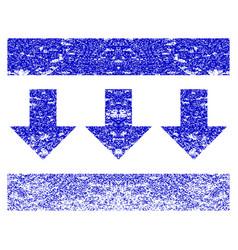 Pressure down grunge textured icon vector