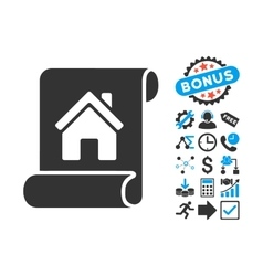 Realty Description Roll Flat Icon with vector image