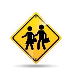Road sign school zone icon vector
