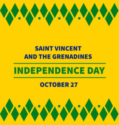 Saint vincent and the grenadines independence day vector