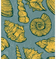 Sea shell background vector image