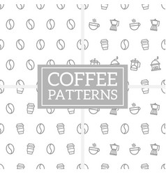 Set geometric coffee pattern in memphis style vector