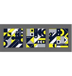 set vintage swiss graphic geometric vector image