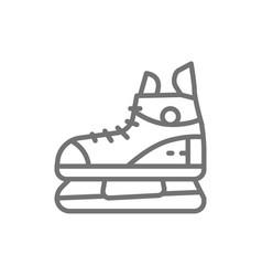 skates sport equipment line icon vector image
