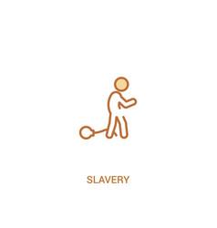 Slavery concept 2 colored icon simple line