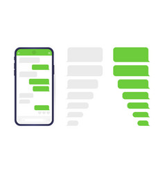smart phone with messenger chat screen sms vector image