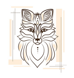 Stylized of a fox for a tattoo vector