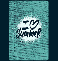 summer calligraphic handwritten grunge poster vector image