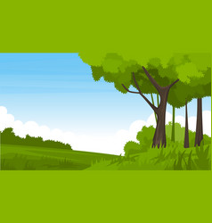 summer landscape with fields and green hills vector image