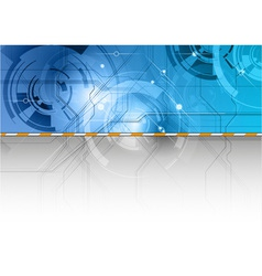 Tech background in the blue color vector