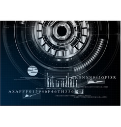 technological abstract metallic business vector image