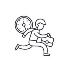 time management line icon concept time management vector image