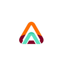 triangle arrow logo vector image