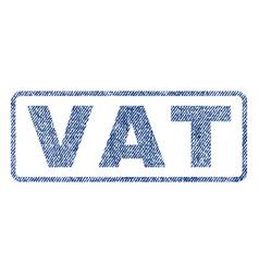 Vat textile stamp vector
