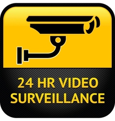 Video surveillance sign cctv sticker vector image
