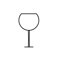 wineglass icon vector image