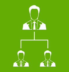 company structure icon green vector image